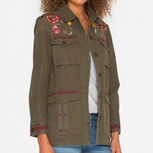 NEW Johnny Was Bonnie drawstring military jacket